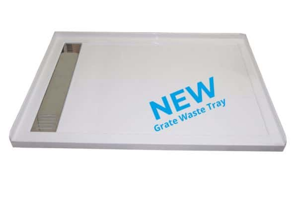 1400 x 900 urban tray with grate waste LH