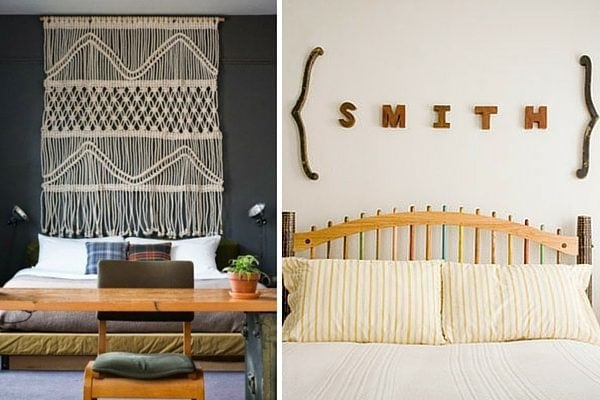 How to decorate above bed