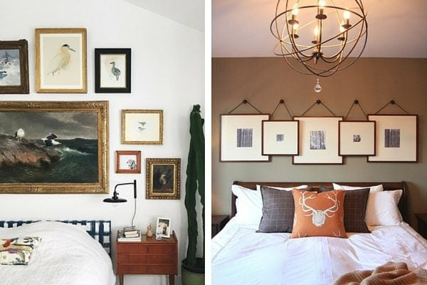 Tips for decorating above bed