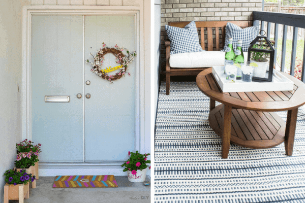 SMALL FRONT PORCH IDEAS COLORFUL ENTRYWAY