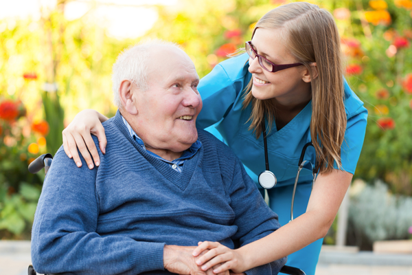 nurse consoling patient