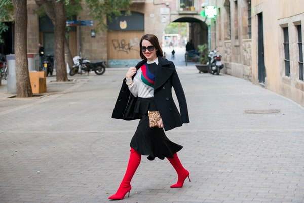 Bold red boots for women over 40   40plusstyle.com
