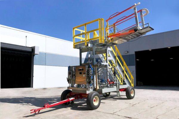 Railcar to ISO Mobile Liquid Transfer Configuration