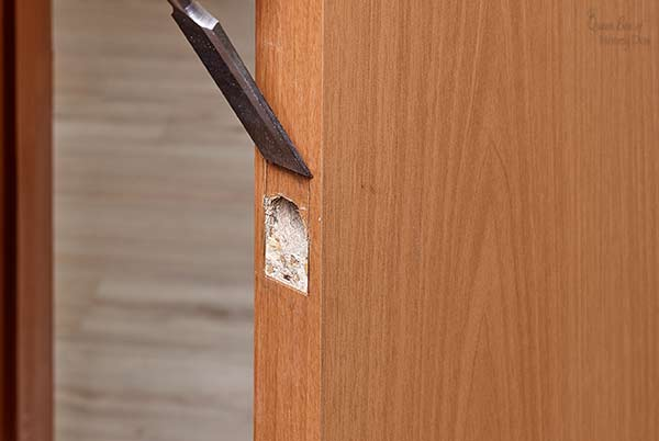 chiseling door latch
