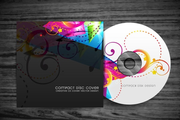 Colorful CD Cover Design Free Download