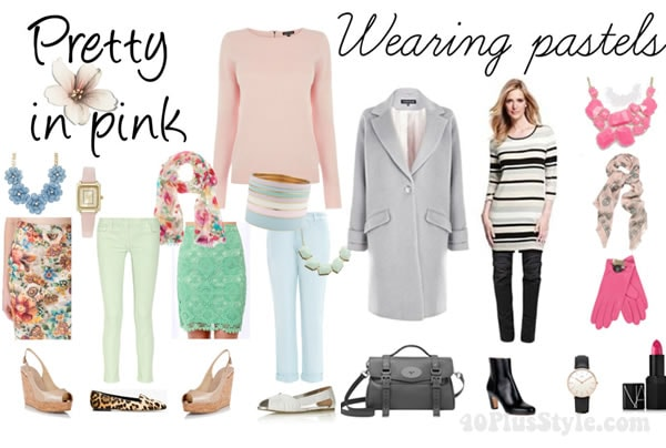 Ideas for wearing pastel color this spring | 40PlusStyle.com