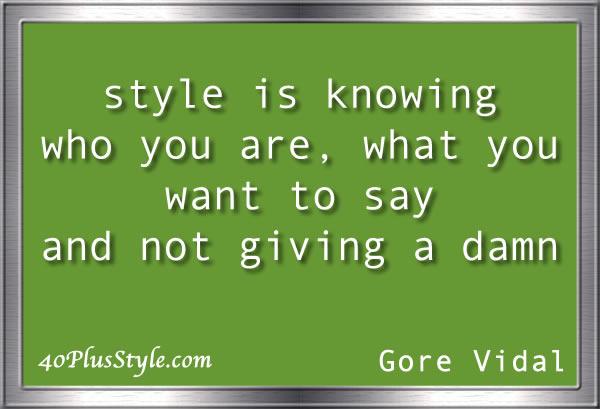 style quote gore vidal