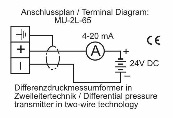Differential Pressure Transmitter in 2-wire - MU-Analog-65-2L