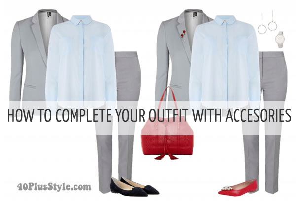 How to complete your outfits with accessories | 40plusstyle.com