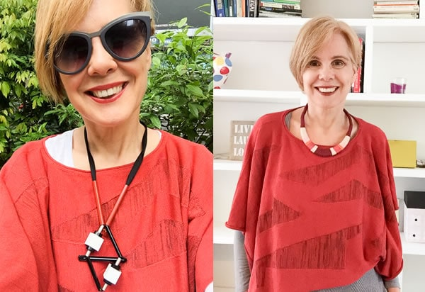 Wearing a statement necklace | 40plusstyle.com