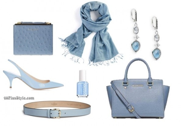 Pantone blue accessories   40plusstyle.com