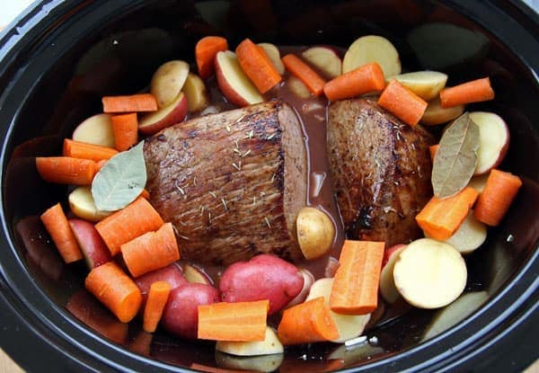 Roast and Vegetables in Crockpot