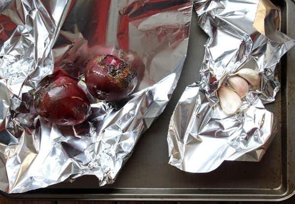 Roasting Beet and Garlic