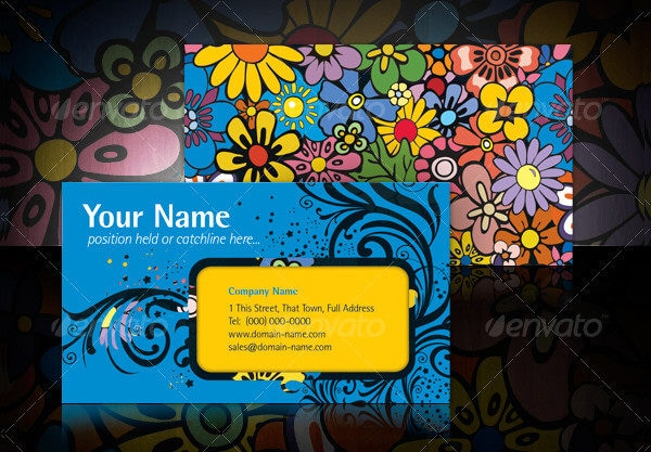 Flower Visual Impact Business Card