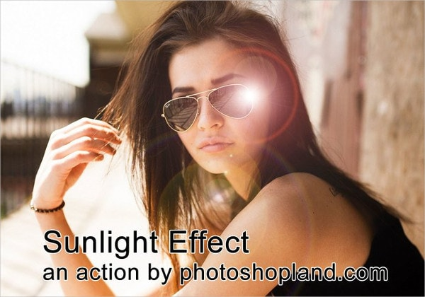 Sunlight Effect Photoshop Action Free
