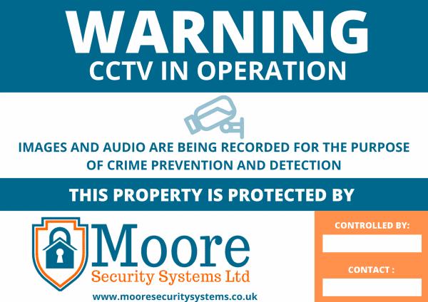 A3 BUSINESS CCTV SIGNAGE