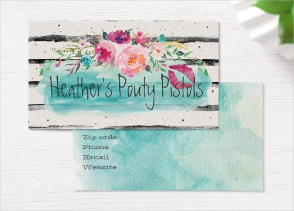 Flower Bouquet Business Card