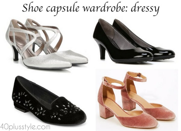 Building a shoe capsule wardrobe: dressy category | 40plusstyle.com