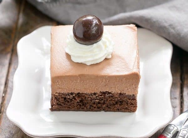 French Silk Pie Brownies | A spectacular 2 in one dessert that's a cinch to prepare!