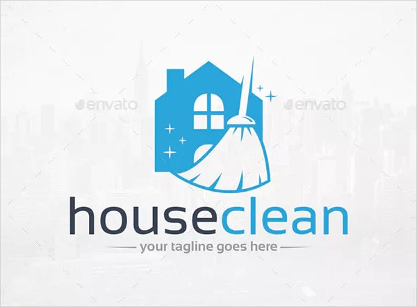 Popular House Cleaning Logo Template