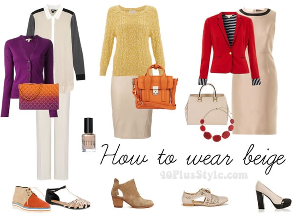 How to wear beige over 40   40plusstyle.com