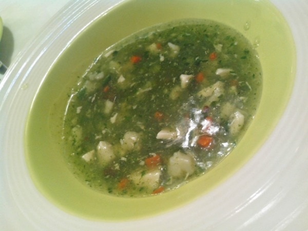 Seafood Spinach Soup