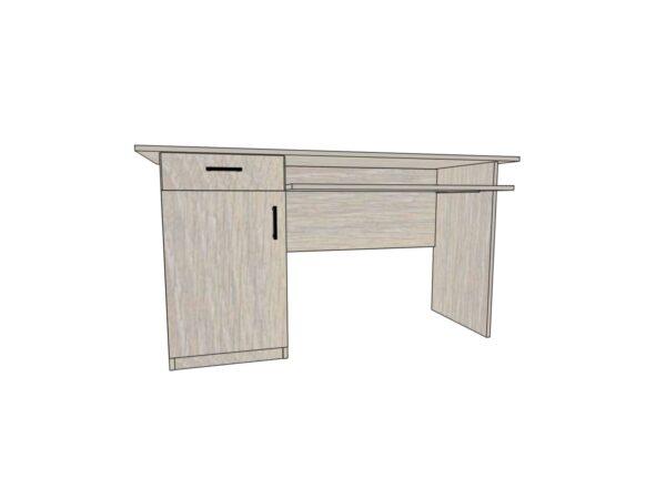 Стол для офиса с ящиком и дверью 1400*600*750мм