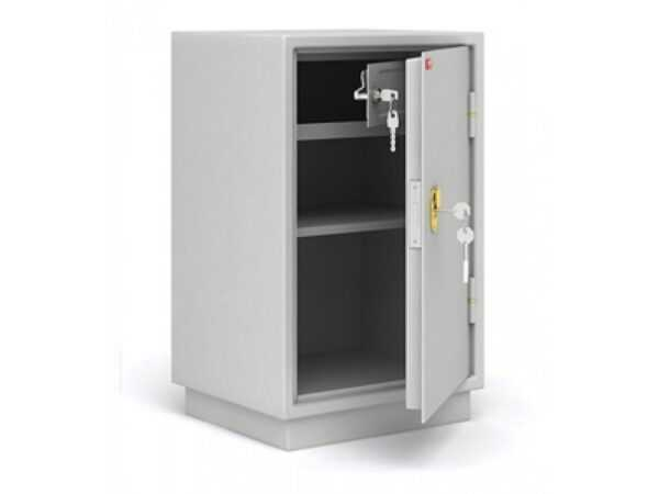 Бухгалтерский шкаф КБ-011Т металлический серый