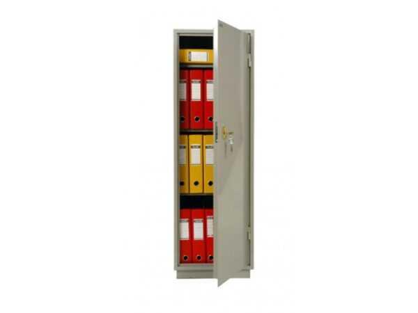 Бухгалтерский шкаф металлический серый КБ-21