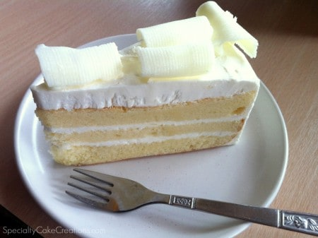 White Chocolate Coconut Cake Piece