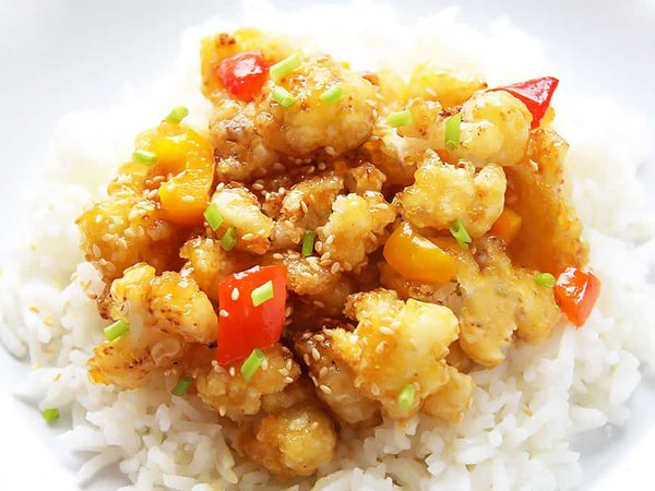 Orange Cauliflower Stir-fry