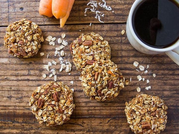 Carrot Cake Cookies with Coffee