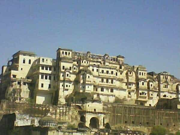 Front View of Badnore Fort at Asind City in Bhilwara, Rajasthan