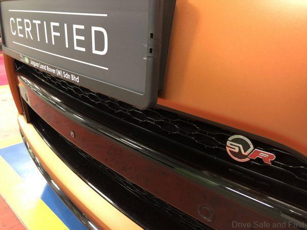Range Rover SVR Used Certified_front nose