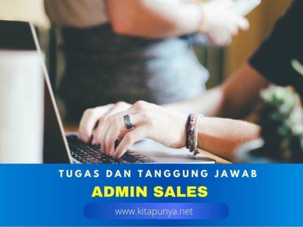 tugas admin sales