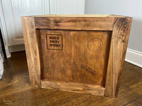 Christmas tree shipping crate stand