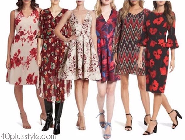 Patterns with red in prints | 40plusstyle.com