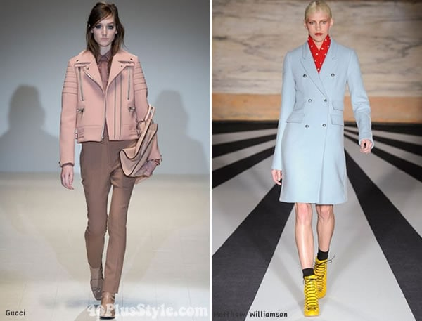 pastel trends for fall 2014 | 40PlusStyle.com