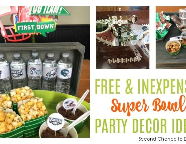 Second Chance to Dream: Free & Inexpensive Super Bowl Party Decor Ideas #SuperBowl #GameDay #Footballdecor