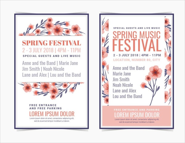 Free Download Spring Festival Posters