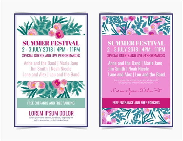 Free Summer Festival Posters Download
