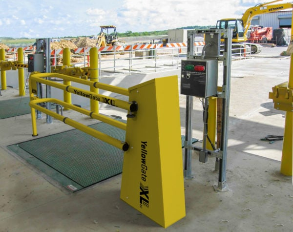 YellowGate XL mezzanine safety gates provide OSHA-compliant fall protection to help keep your team safe.