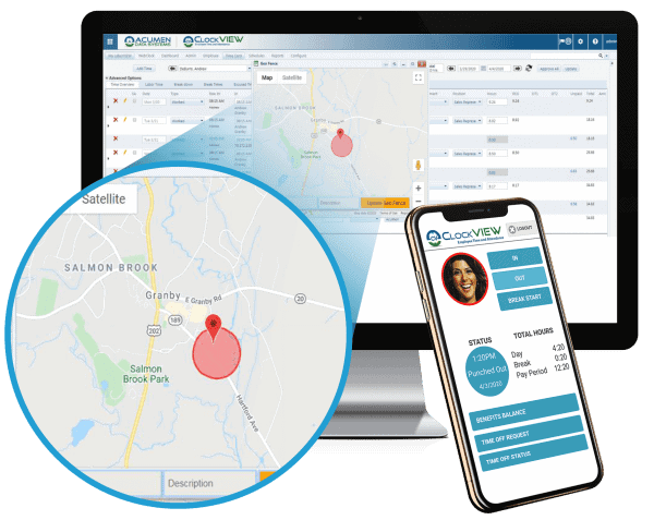 mobile employee timekeeping location tracking