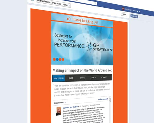 Gp Strategies' website homepage