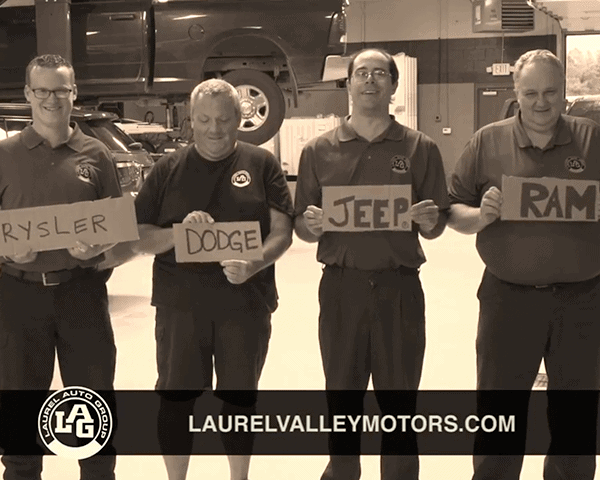 Still from Laurel Auto Group Laurel Valley Motors commercial