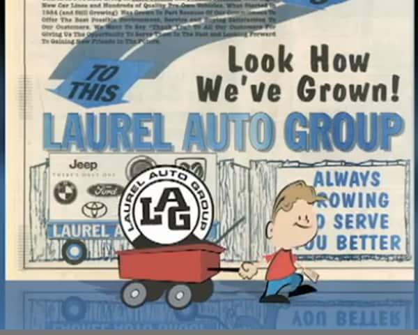 Laurel Auto Group newspaper comic themed ad
