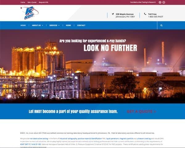 RNDT's website homepage