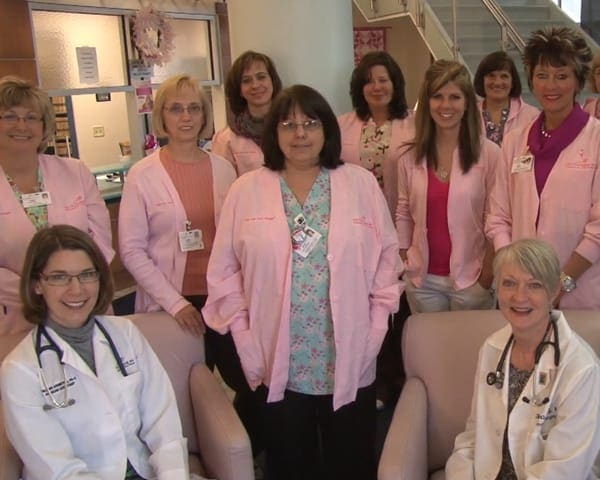 A group picture of nurses and doctors
