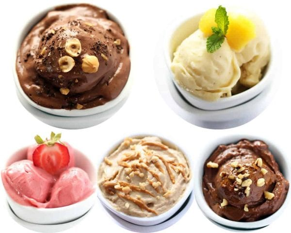 Five Different Nice Creams