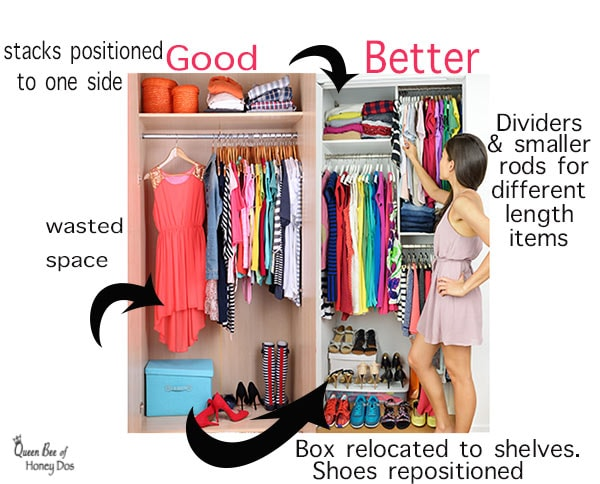 Real Solutions for Organizing a Closet! #storage #closets #queenbeeofhoneydos